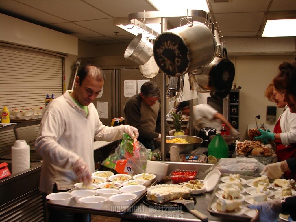 Shelter dinner March 2009