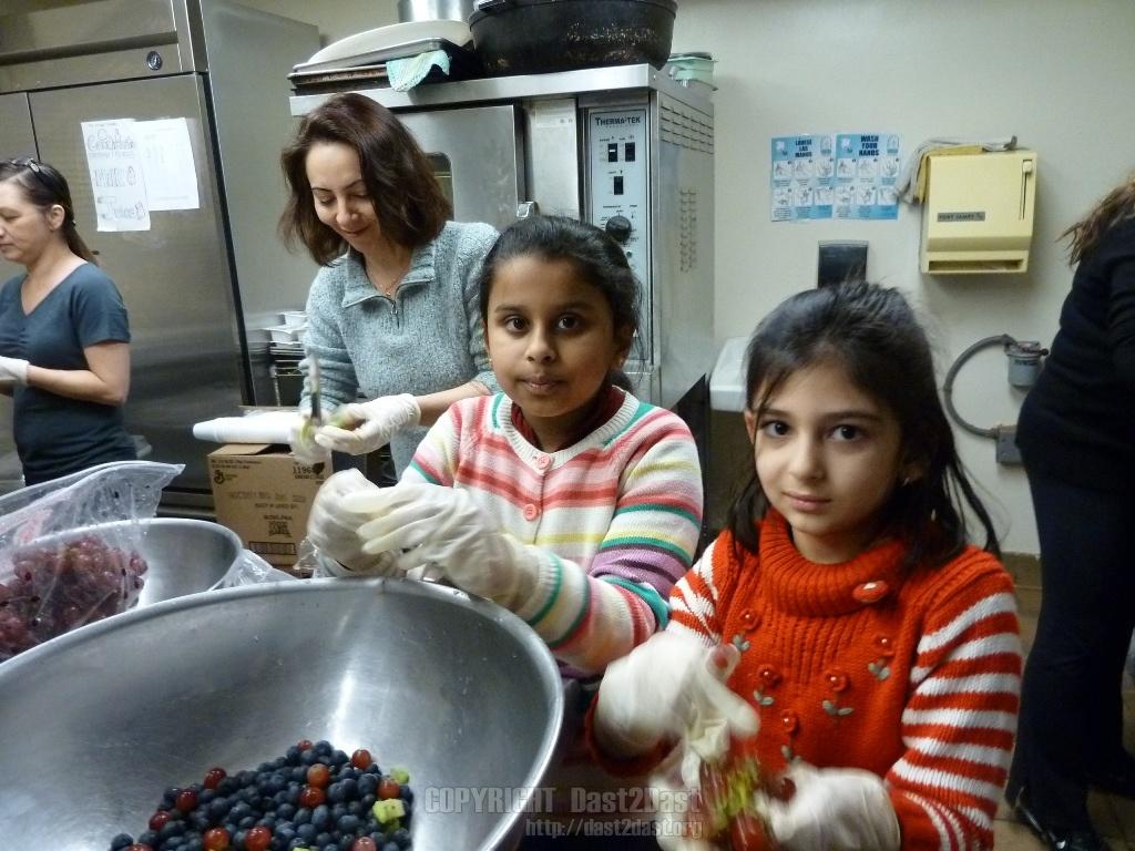 Shelter dinner January 2011