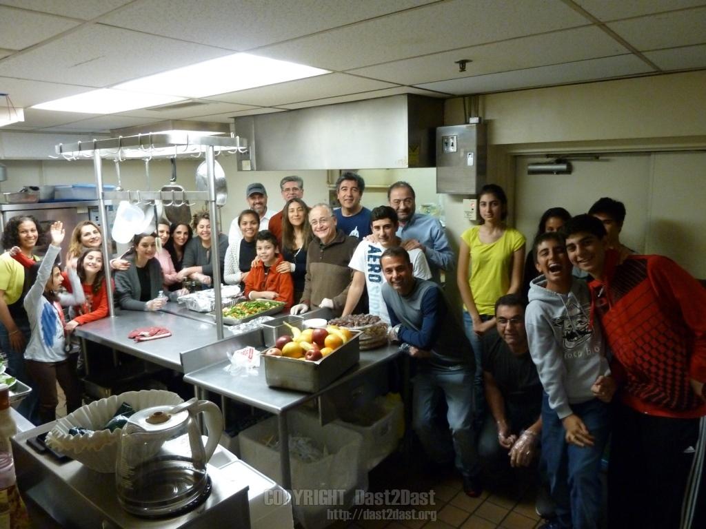 Shelter dinner November 2012