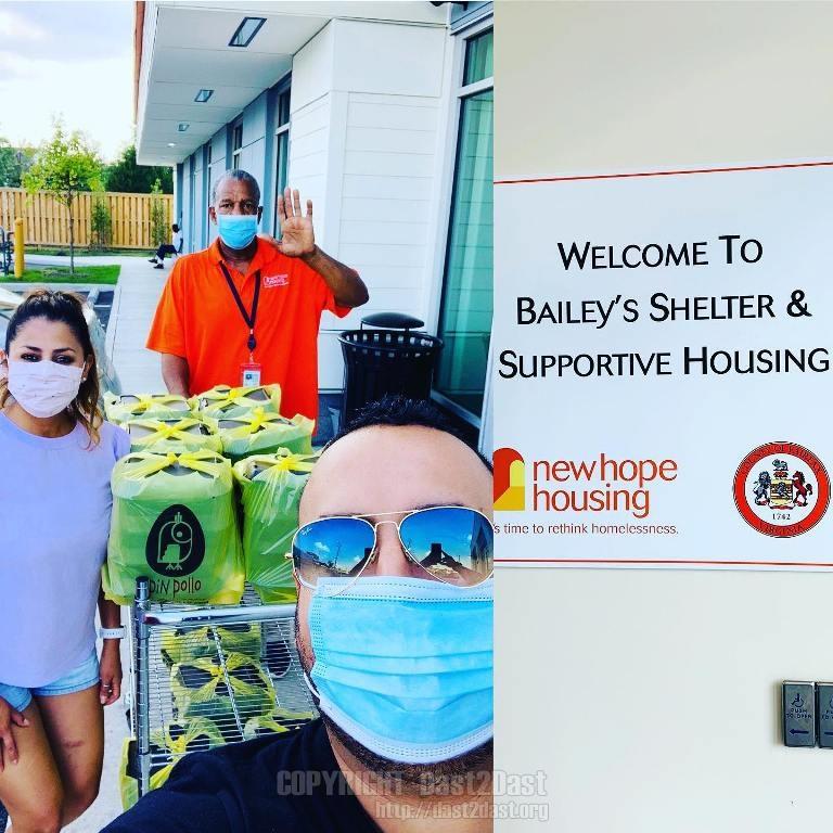 July 2020 shelter dinner