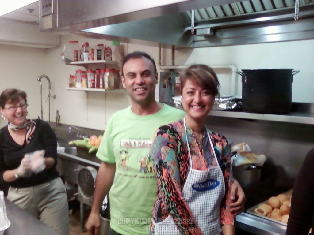 Shelter dinner September 2009