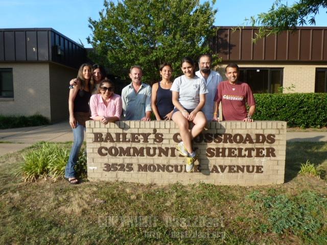 Shelter dinner June 2012